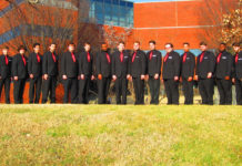 The Singing Cardsmen is a UofL men's choir for non-music majors that was started last year by Dr. Randi Bolding in the College of Music.