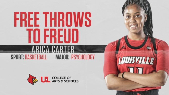 Arica Carter is pursuing a psychology degree from the College of Arts & Sciences. She wants to be a coach or a sport psychologist when she graduates.