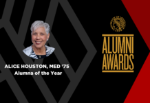 Alice Houston, the 2020 Alumna of the Year, earned her Master of Education from UofL in 1975.